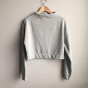 Zara mock neck gray longsleeve size medium